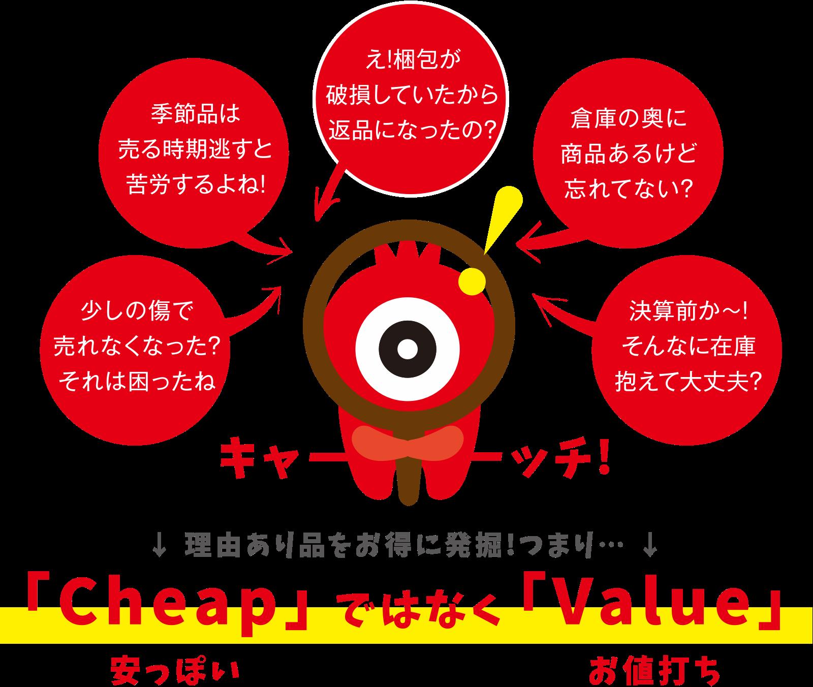 「Cheap」(安っぽい)ではなく「Value」(お値打ち)
